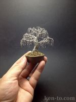 Creepy weeping wire bonsai tree by Ken To by KenToArt