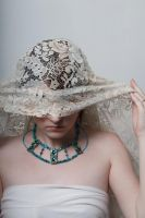 Lace headdress 4 by Sinned-angel-stock