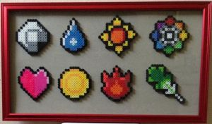 Pokemon Kanto Badges perler by Birdseednerd
