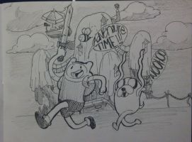 Adventure Time doodle by xCandyliciousx
