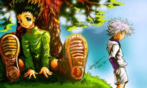 Killua Stalking Gon by BajinArellano