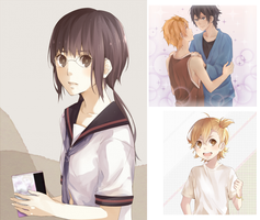 Barakamon ~quick drawings~ by Miss-Ariellia