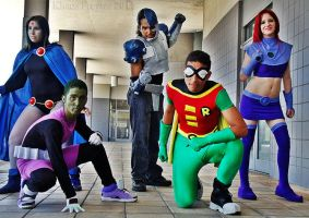 Teen Titans Group Shot by KhaosTheory455