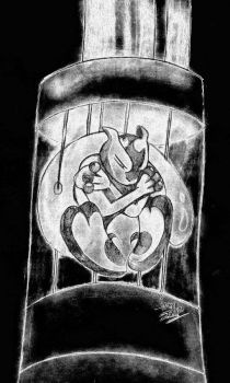 Mewtwo in incubator request by Sandragon