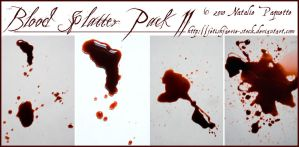 Blood Splatter Pack II by fetishfaerie-stock