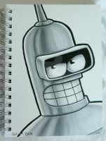 Inktober 2016: Bender by Red-Flare