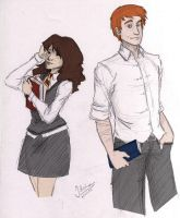 HP - Ron and Hermione by vive-m