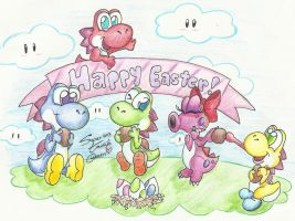 Happy Easter from Yoshi ! by SuperTawaifaQueen