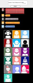Durarara _ Room Chatting Icons by kitkat523