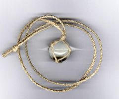 Hemp Wrapped Crystal Ball Necklace by LWaite