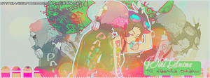Pink and green ~OUT~ Portada WikiAnime by x-NewMoon-x