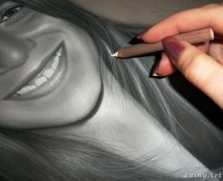 Giovanna - Charcoal WIP by secrets-of-the-pen