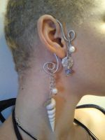 Mermaid Inspired Earrring by Antiquity-Dreams