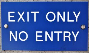 Exit Only by monophoto
