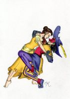 Clopin and Belle Collab Part 3 by Kitty-Grimm