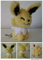 Happy Jolteon Plush by sorjei