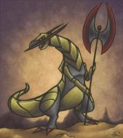 Halberd the Haxorus by Zenity