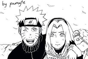 Narusaku after war by PumyteH