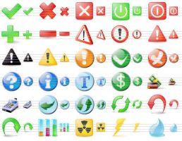 Large Button Icons by ahasofticons