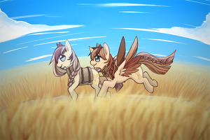 Wheat Field by Mousu