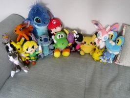 Plushie Collection May 2014 by anime-wolf-fan-girl