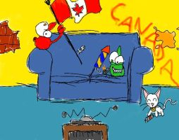 An Ooblie Canada Day by twitcher