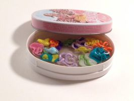 Miniature Coral Reef Aquarium in a french mint tin by amykristin75