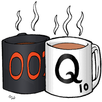 00Q Mugs by aquabluejay
