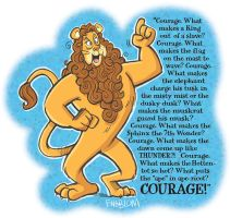 The Cowardly Lion - Courage by mengblom