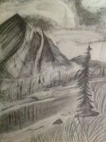 Mountain landscape by Bellasartbook