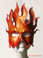 Fire leather mask by Alyssa-Ravenwood
