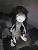 Creepy Girl. by Meammy