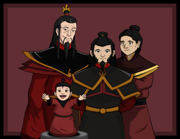 Fire Nation Royal Family (Azulon Era) by JTD95