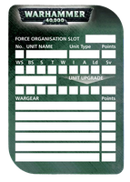 40k Roster Template by Olovni