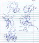 Silver and Sonic doodles by LittleRubyKitty