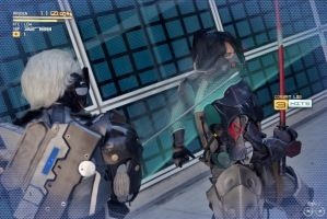 Metal Gear Rising: Revengeance Cosplay: BLADE MODE by AzHP