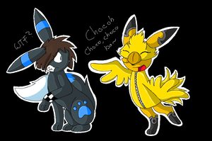 Chocobo dance with Cotton 8D by TwilightTheEevee