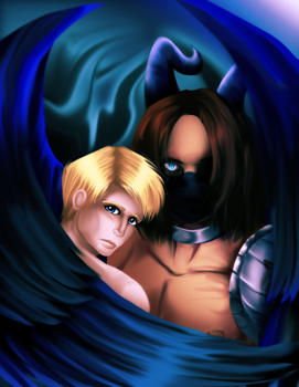 fic fanart: Demon and a Cadet by WinterGlace