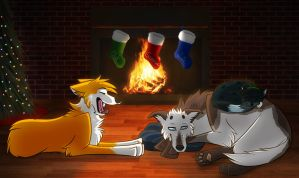 Fireside Nap by BloodVendor