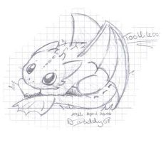 school doodle: Toothless by Isi-Daddy