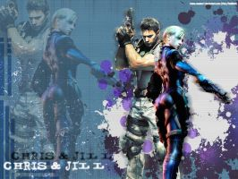 Chris-x-Jill wallpaper - gift by Claire-Wesker1