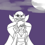 Request from Oliwun - Spoopy times together by Mx-Robotnik