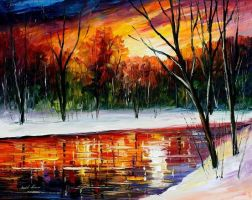 Winter Spirit - Oil Painting On Canvas by Leonidafremov