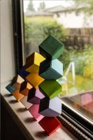 stacked Cubes by HER-NAME-WAS