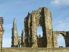 whitby abbey ruins by thom-cat