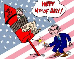 Dead on the Fourth of July by Latuff2