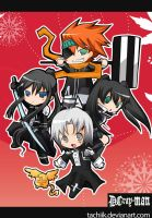 D grayman group chibi by tachiik