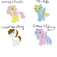 10 point  pony ship babies ~ 3/4 by InuLover097