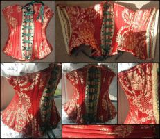 Red Corset by Pretentiouslydevious