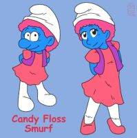 Candy Floss Smurf by MuseWhimsy